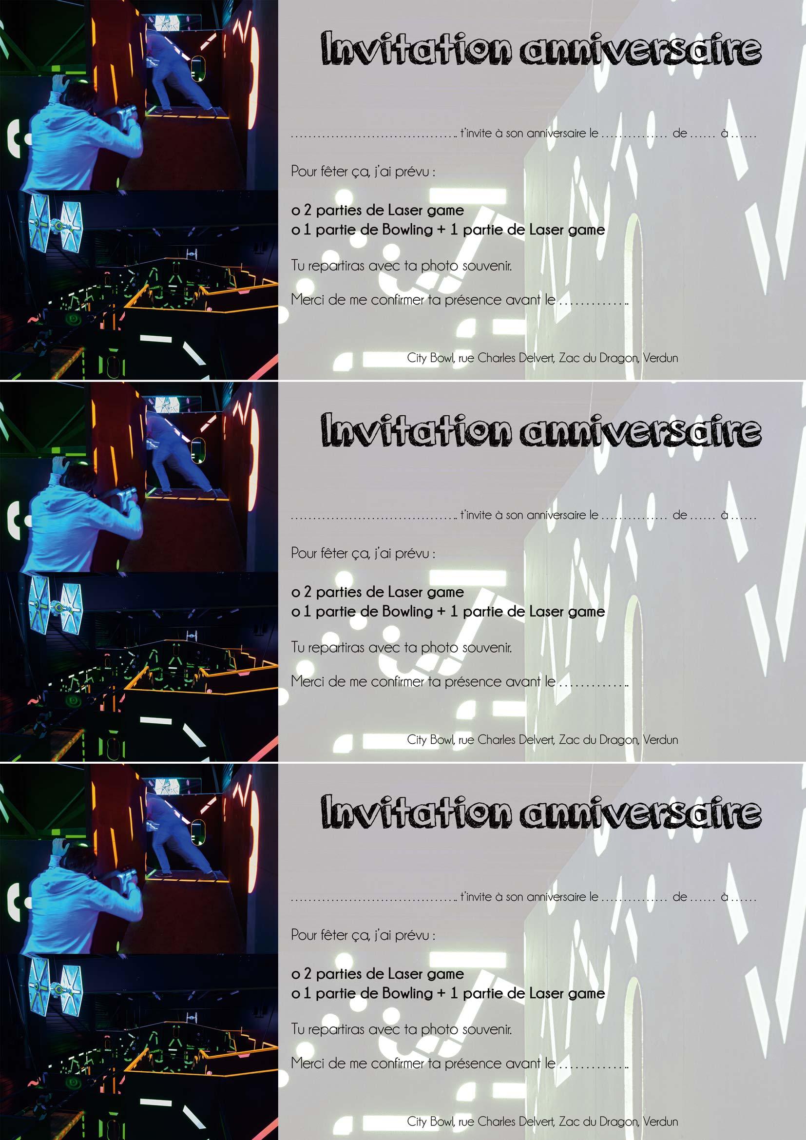 Préférence Carte D Anniversaire Laser Game | d'anniversaire 8 OC51